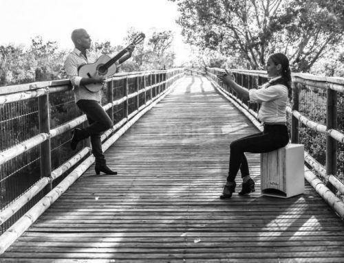 La pareja que mezcla el tango y el flamenco